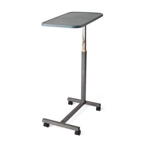 movable bed table on wheels with easy cleaning surface