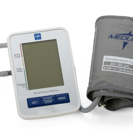 large cuff digital blood pressure machine. built in error detection