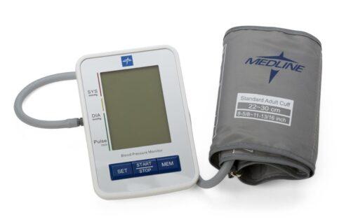 large cuff digital blood pressure machine. built in error detection