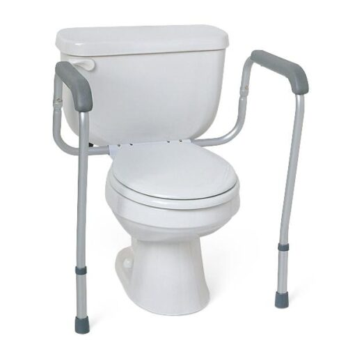adjustable toilet rails to get on and off toilet easier
