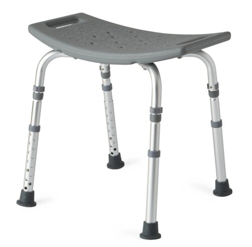 easy to assemble, portable and sturdy bath or shower chair without arms
