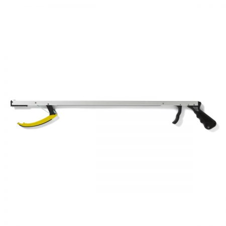"REACHER, PISTOL GRIP, 26"" Pistol grip reacher aids individuals with limited reach and hand strength Open jaw closes when trigger is squeezed"
