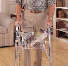 hands free carrying with this walker basket