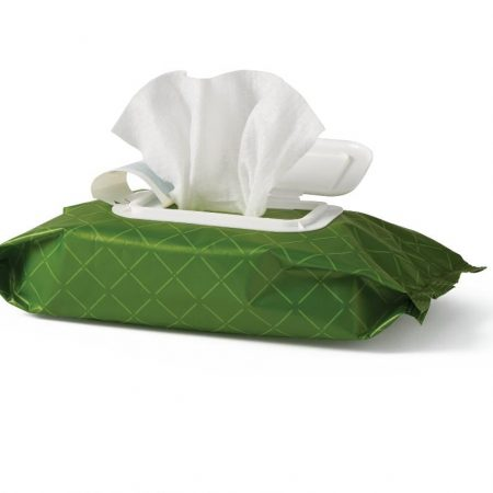 flushable cleansing and moisturizing wipes