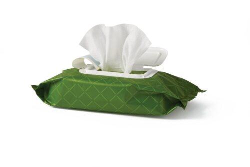 flushable cleansing and moisturizing wipes