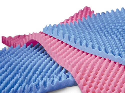 """""""egg crate"""" mattress pads to reduce pressure points"""