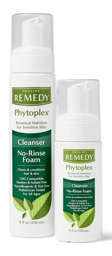 alternative to soap, cleansing foam is easy to handle and reduces waste