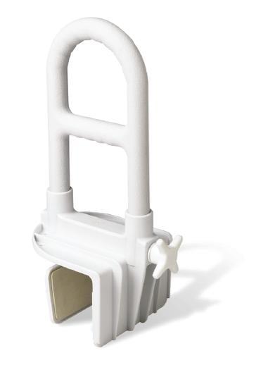 tub rim mounted grab safety bar