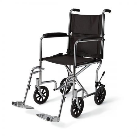 foldable lightweight wheelchair with seat belt, removable arm and foot rests