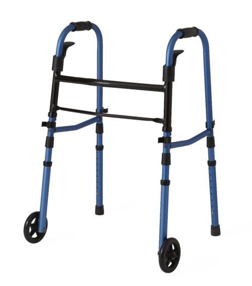 Folding and adjustable walker