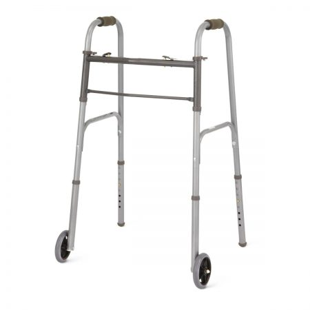 foldable walker with two wheels
