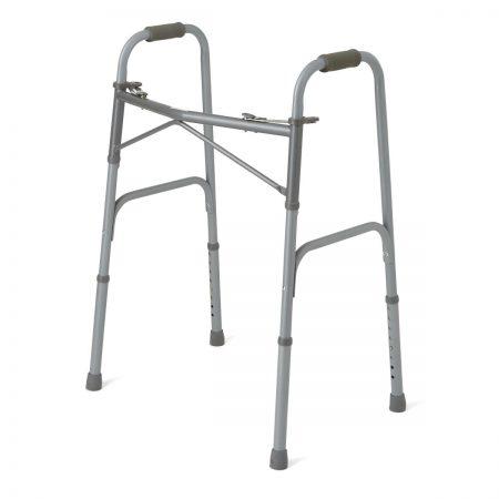 Folding bariatric walker