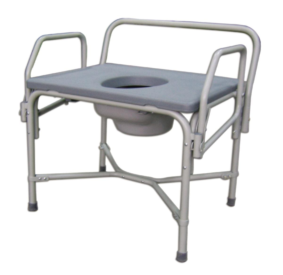 Bedside commode for obese people