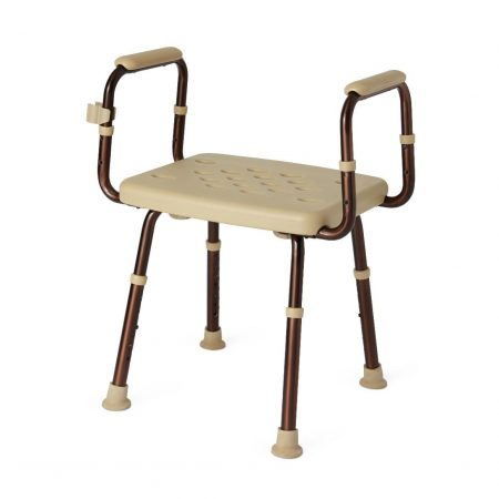 backless shower chair with germ protectant surface