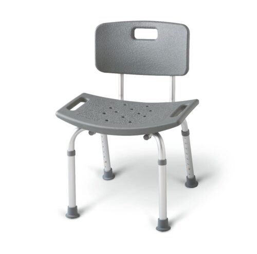 bathing chair with back that helps to prevent falls in the bathtub
