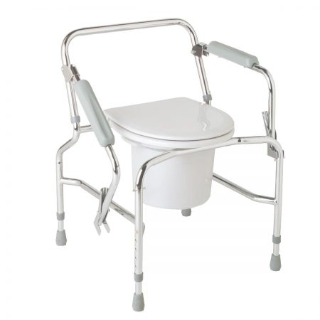 bedside commode for easy transfer from wheelchair to toilet