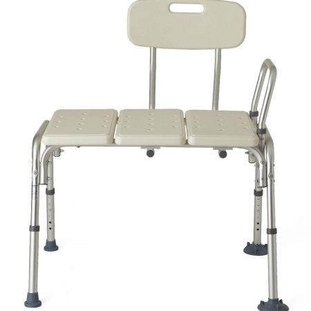 economical bath and shower transfer bench with arm rest