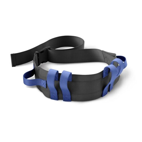 wrap this belt around the waist of someone who needs you to help them walk
