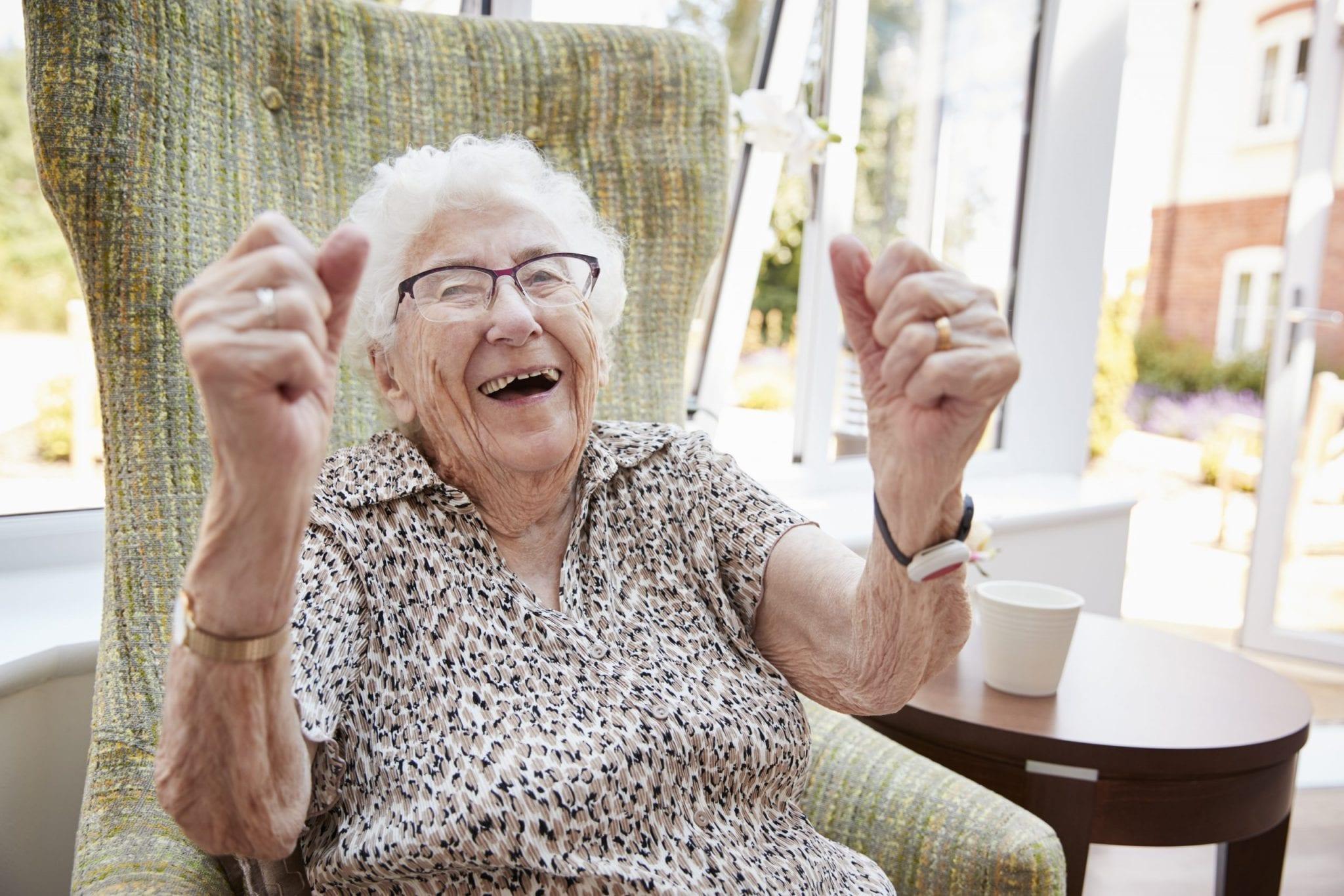 Portrait Of Excited Senior Woman